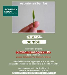 Locandina-Esperienza-Bambu-9-maggio-2019-Spontaneodesign
