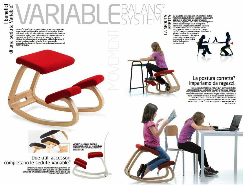Varier Stokke Variable sedia ergonomica per studiare - Onfuton