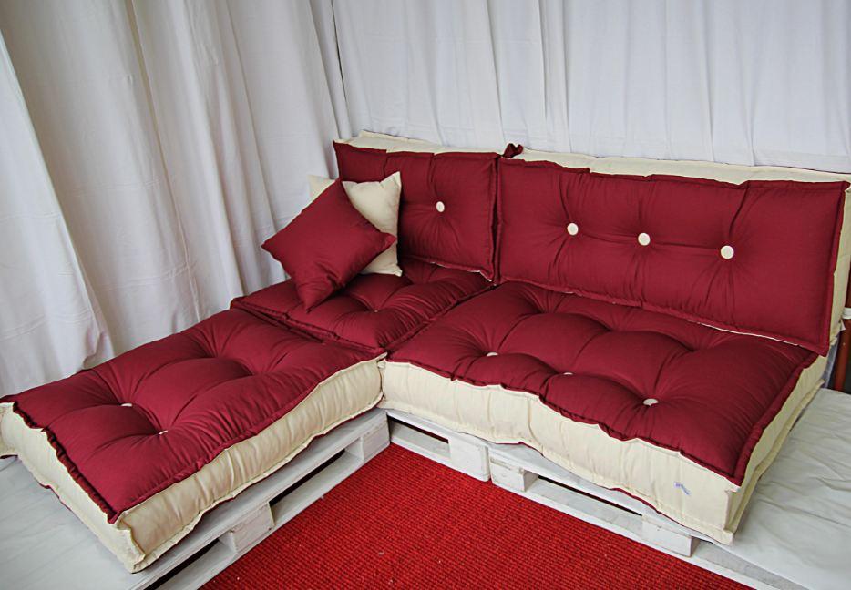 Green pallet divano ecologico tabouret cotone riciclato for Vendita pallet per arredamento