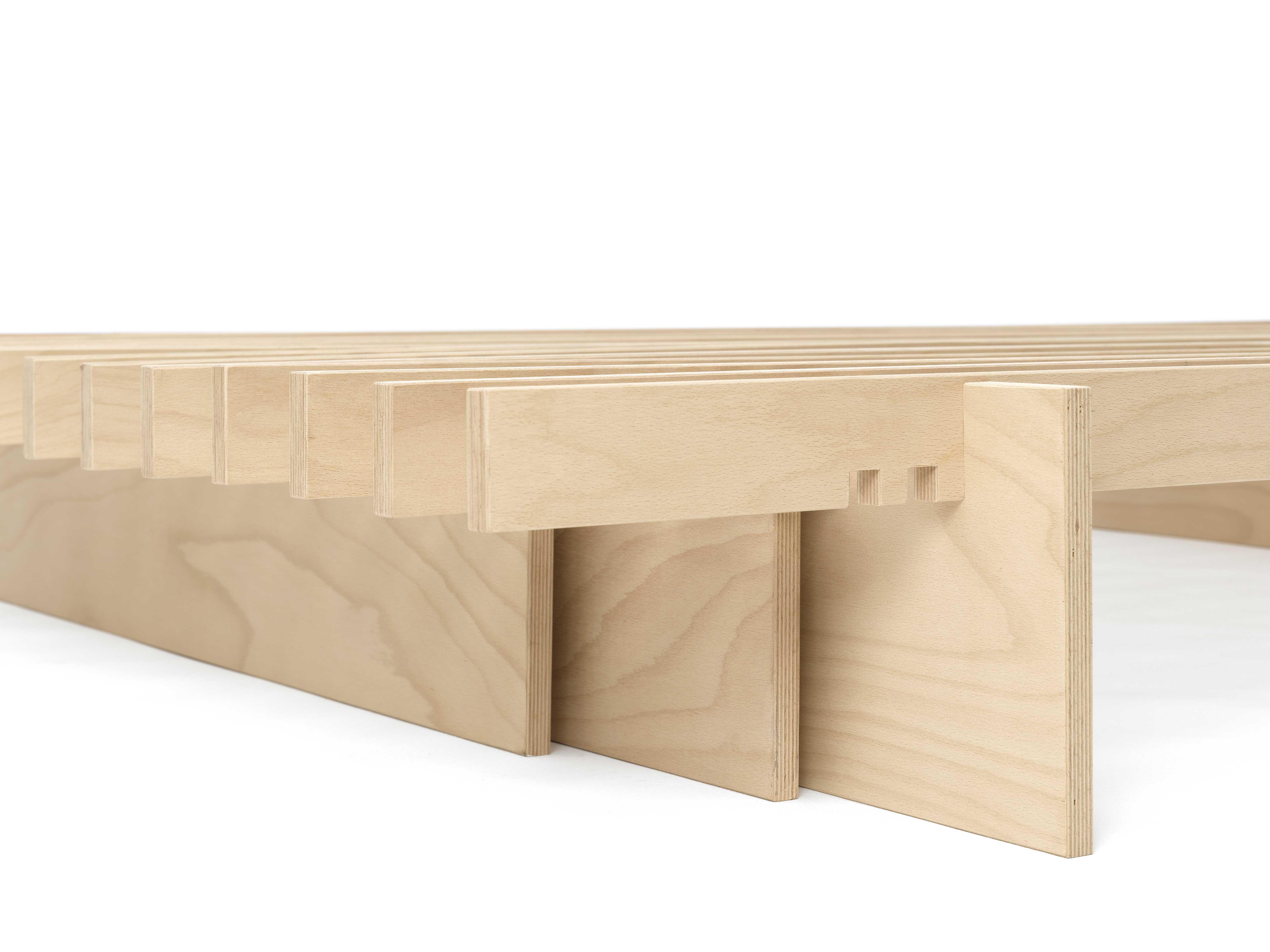 letto Dogo design ecologico doghe legno giapponese naturale (4 ...