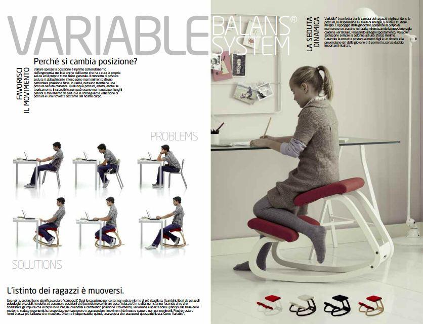 Variable sedia ergonomica balance system studio onfuton for Sedia ergonomica